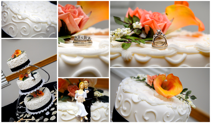 Featured Wedding Cake Details, Real LDS Wedding