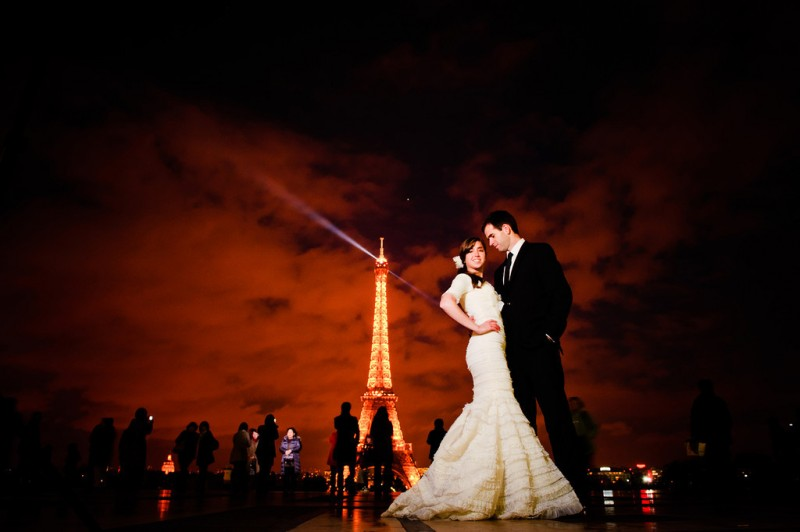 Featured Real LDS Wedding, February 2012, Bride and Groom in Paris