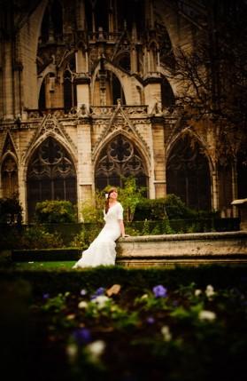 An LDS bride in Paris