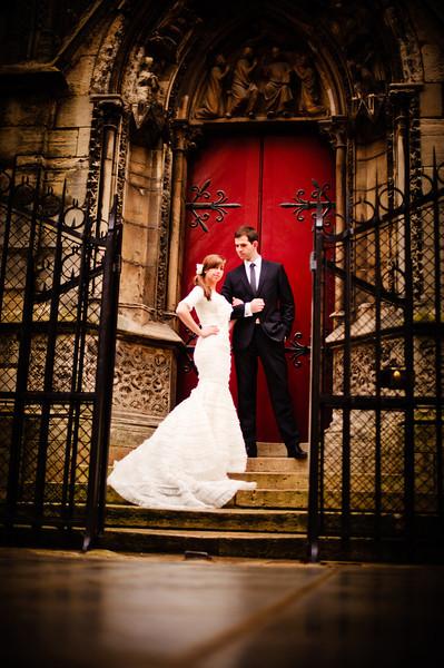 An LDS wedding couple, featured february Wedding 2012