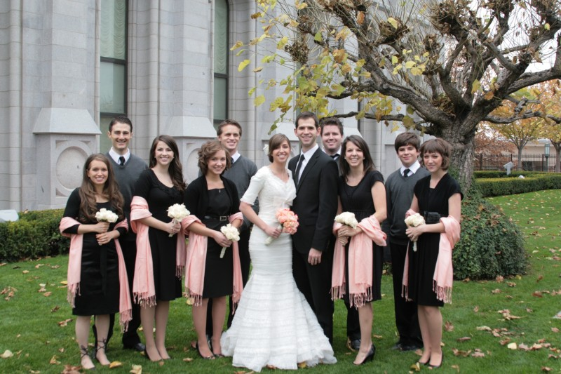 Featured Real LDS Wedding party February 2012