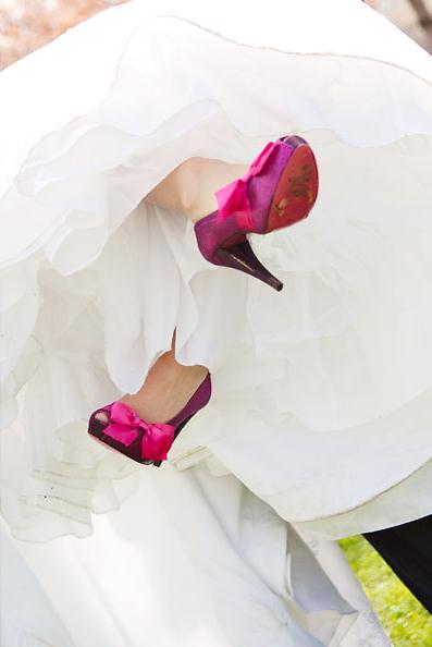 LDS bride's shoes