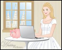 download or print a online-offline LDS wedding budget from WeddingLDS.com