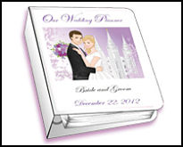 a beautiful cover for an LDS wedding planner from WeddingLDS.com