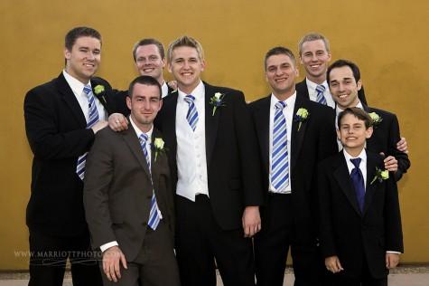 LDS groom and his groomsmen