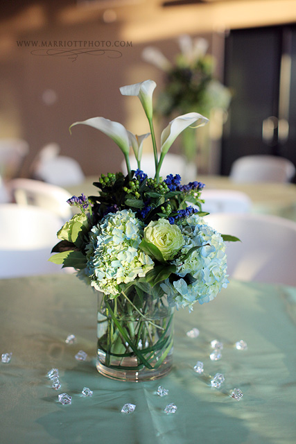 wedding flowers for an LDS wedding reception