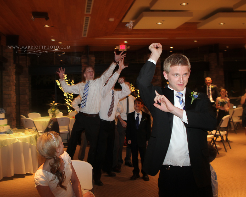 LDS groom throw the garter