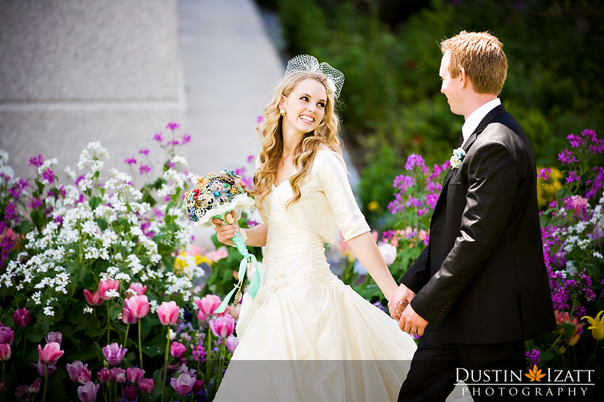 An LDS bride and groom