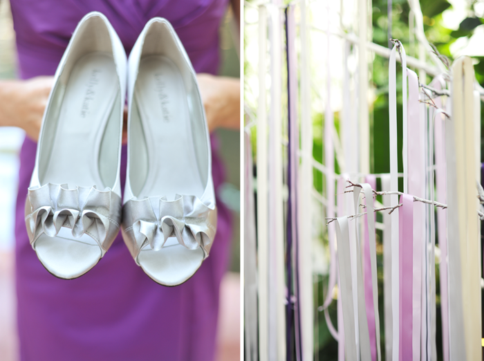 gorgeous bridal shoes and ribbons