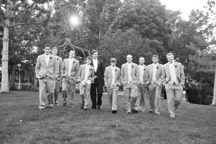 LDS wedding, groom and his attendants