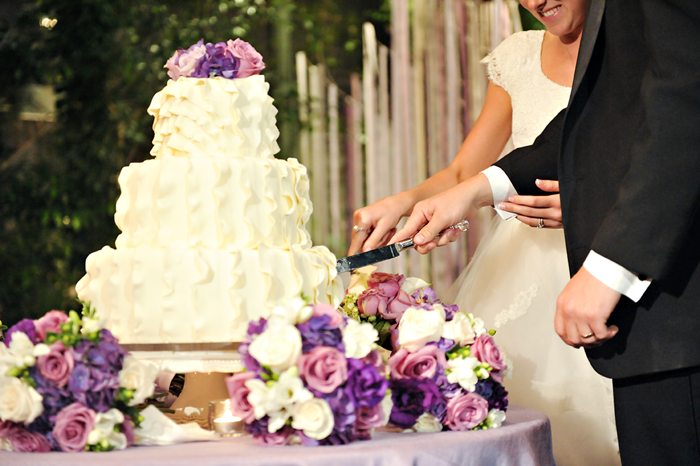 wedding cake at an LDS wedding