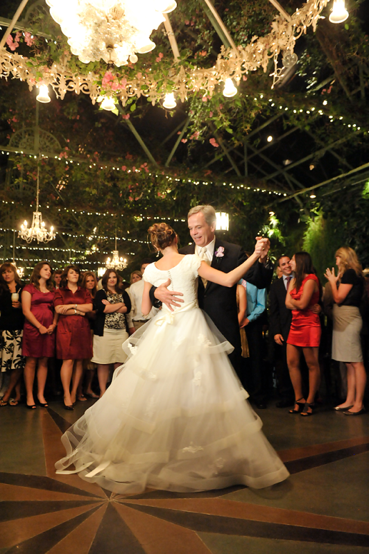 Featured Real LDS Wedding, a daddy daughter dance, special moment
