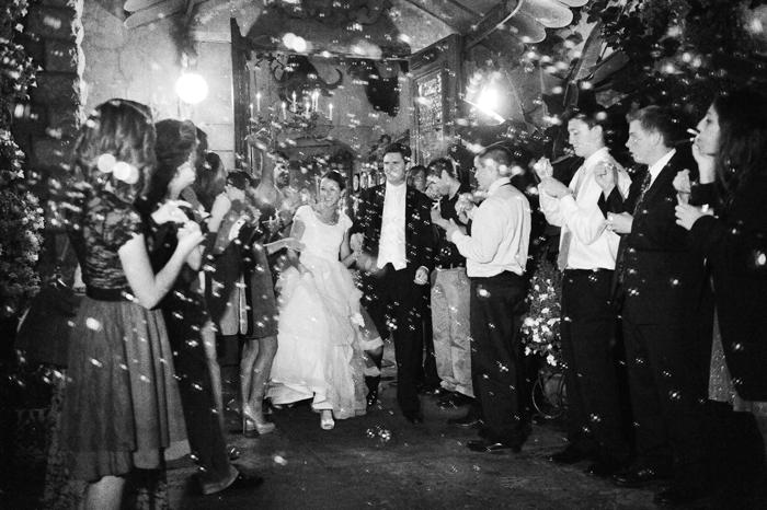 Real Mormon wedding, wedding bubble exit
