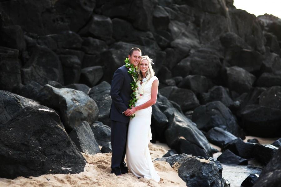 An LDS couple on the Hawaiian beach
