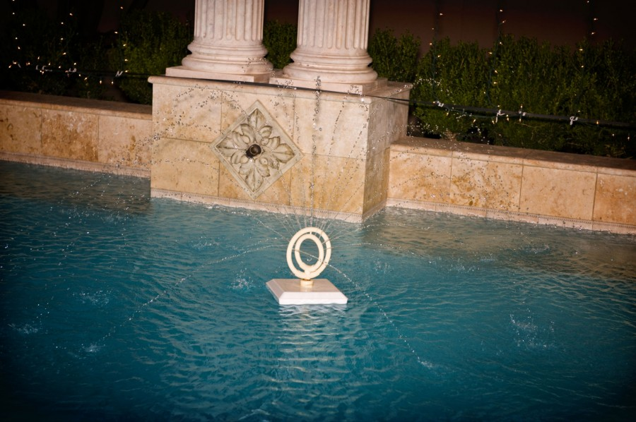 pool at a wedding venue