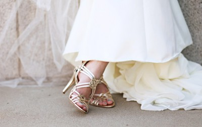 height of heels for LDS bride's shoes
