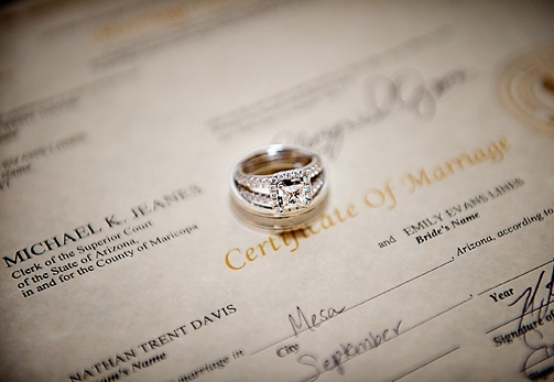 a marriage license