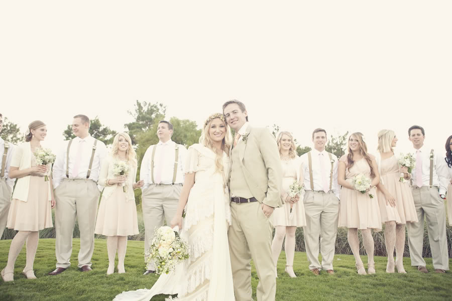LDS bridesmaids and groomsmen