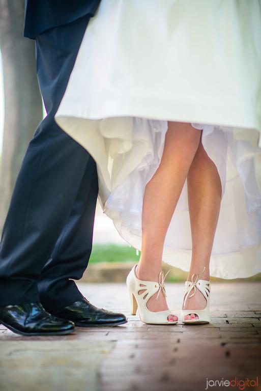 modest wedding dresses, wedding shoes on an LDS bride, weddinglds.com