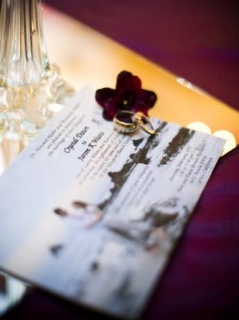wedding invitation, photography by Amelia Lyons, WeddingLDS.com