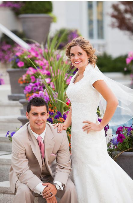 LDS bride and groom, married for all time