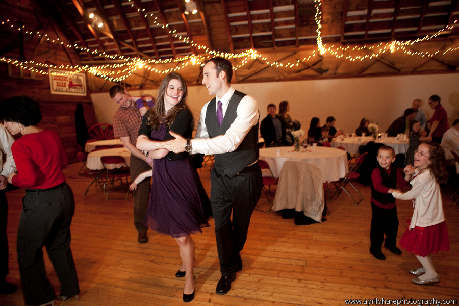 guests dance at an LDS wedding reception