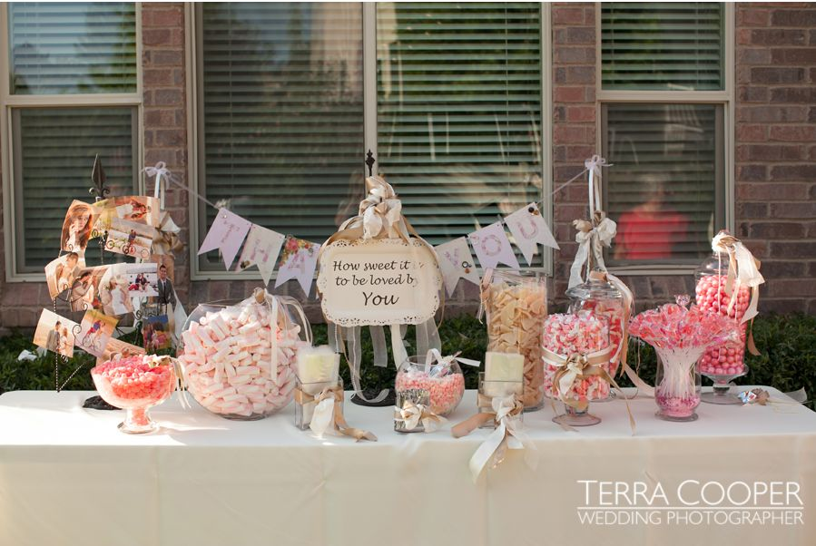 LDS wedding candy buffet