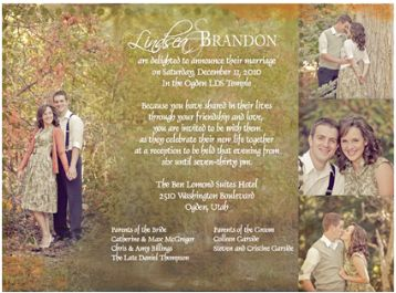 LDS Wedding Invitation Wording LDS Wedding Planner
