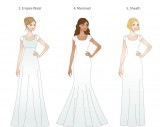 LDS Weddings, LDS brides, 5 basic dress shapes