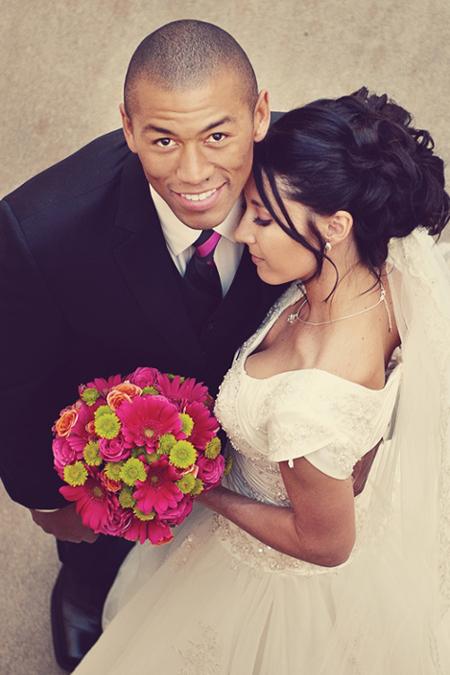 An LDS bride and groom, WeddingLDS.com