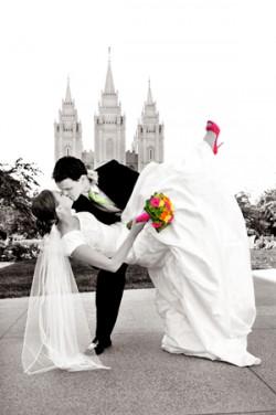 LDS Salt Lake City Temple, LDS wedding, LDS groom, LDS bride
