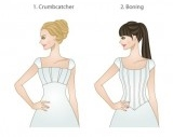 LDS modest wedding dresses- bodice types