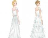 LDS modest wedding dresses- skirt types