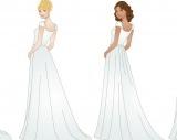 LDS modest wedding dresses- trains
