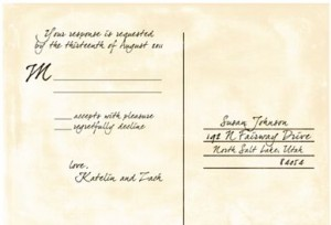rsvp cards wording for weddings