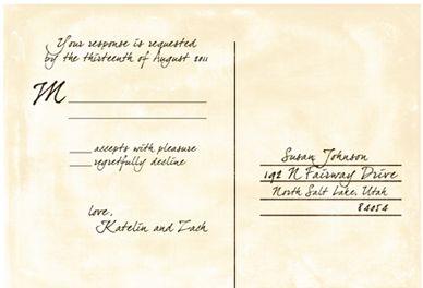 LDS Wedding Response Cards LDS Wedding Planner