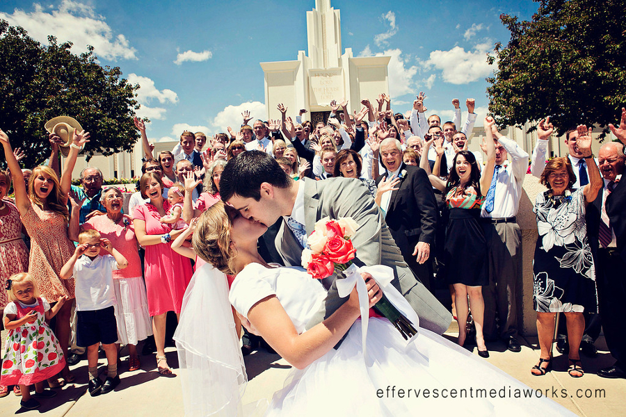 LDS Bride and Groom, WeddingLDS.com